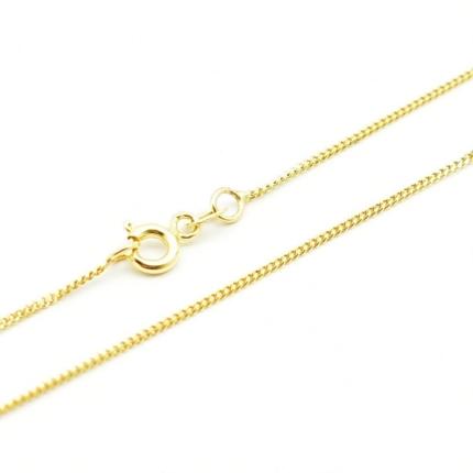 Złoty łańcuszek – delikatna Pancerka 45 cm