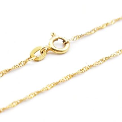 Złoty łańcuszek – singapur 44 cm