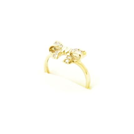 Złoty pierścionek – kokardka