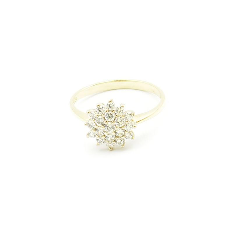 Złoty pierścionek z cyrkoniami PB-0085