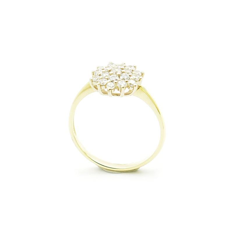 PB-0085 złoty pierścionek z cyrkoniami.