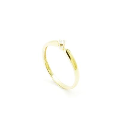 Złoty pierścionek z brylantem PB-0093