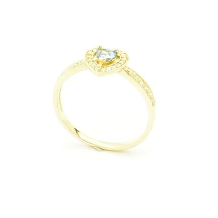 Pierścionek zaręczynowy z topazem w kształcie serca  P 1898
