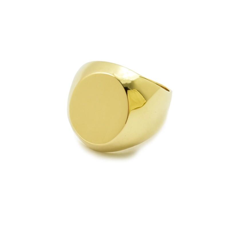 Klasyczny złoty sygnet - S-11